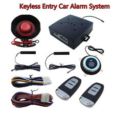 Autos SUV Alarm System Keyless Entry & Engine Ignition Push Starter Button Kit