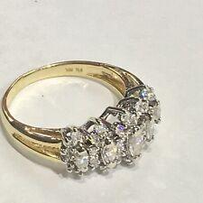 14k 2-tone Marquise And Round Diamonds Band