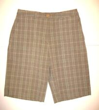 Nwtg Womens Size 6 Sport Haley Beige Plaid Walking Golf Cruisewear Casual Shorts