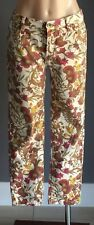Retro SPORTSCRAFT Cropped Floral Print Straight Leg Denim Pants Size 10