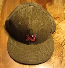 Nebraska Cornhuskers Mens Baseball Cap, Hat, Brown Corduroy Decky, New, Snapback