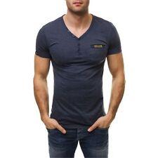 Herren-T-Shirts mit Y-Ausschnitt aus Baumwolle in Plusgröße