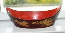 Lackmalerei Japan China Holz Lackarbeit Schale Gold Rot signiert Antique