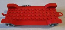 Lego Fabuland x612 Car Chassis 14 x 6 Old Red Rouge du 328 128 121 338 -F15