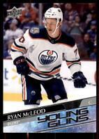 2020-21 UD Series 1 Base Young Guns #231 Ryan McLeod RC - Edmonton Oilers