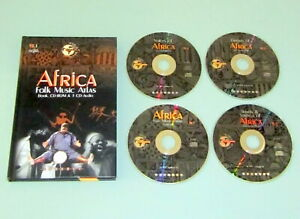 1997 AFRICA FOLK MODERN MUSIC BOOK 4 CDs Sub-Sahara Instruments Drum Psychedelic