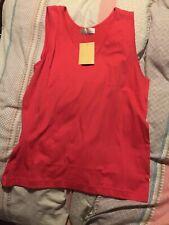 Bnwt Best Basics Red Sleeveless Teeshirt Size 14/16