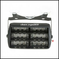 18 LED Flash Strobe Dash Emergency Car Light Amber/White 3 Flashing Modes