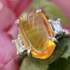 Edelopal Diamant Ring 4.25 ct 0.40 SELTENES OPALISIEREN PLATIN SW ca.5.640.-Eur