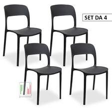 Stil Sedie -4 PZ Sedia Cucina Casa Bar Ristorante In Polipropilene design Ariel