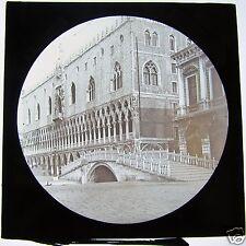 Glass Magic Lantern Slide DUCAL PALACE VENICE C1900 ITALY