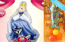 MYLAR PRINCIPESSE Disney, Cenerentola 86 cm BASE PALLONCINI, Addobbi Compleanno