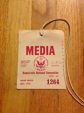 1972 Democratic National Convention Press Pass Media Badge George McGovern