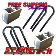 "Universal 4"" Rear Lowering Blocks With U-Bolts Drop Kit Import Minitruck"