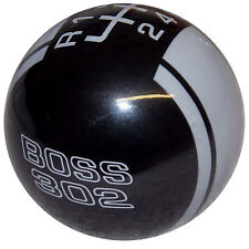 Rally II Black w/ Gray Stripes Boss 302 Mustang -L  6 Speed shift knob M12x1.25