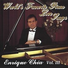 WORLD'S FAVORITE PIANO LOVE SONGS 3 CD CHIA, ENRIQUE BRAND NEW SEALED