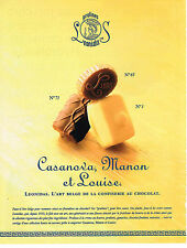 PUBLICITE ADVERTISING 024   1999   LEONIDAS   chocolats Belges