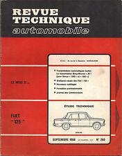 REVUE TECHNIQUE FIAT 125 BERLINE N°269