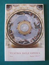 """TEATRO DELL'OPERA ROMA STAGIONE 1966-67 """"SPETTACOLO DI BALLETTI"""""""