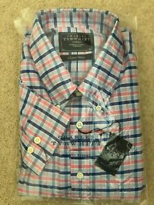 Charles Tyrwhitt Blue/Pink Oxford Weave Shirt Size XL tnew with tags Classic Fit
