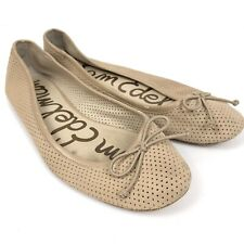 953afcc4fcb New ListingSam Edelman Tan Suede Perforated Ainsley Ballet Flats Womens Size  8