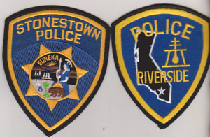 Riverside & Stonestown CA Police patches