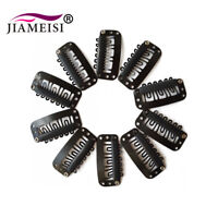 100 PCS 32mm Black U Shape Snap Metal Clips for Hair Extensions Weft Clip-on Wig