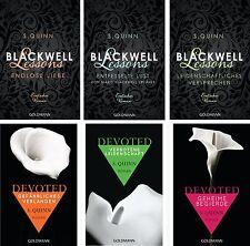 Devoted Serie und Blackwell Lessons von S Quinn  6 Bände Taschenbuch