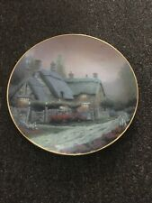 """Thomas Kinkade 1992 """"McKenna's Cottage"""" Collector's Plate Coa Numbered 19424A"""
