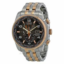 Citizen AT9016-56H ECO-DRIVE WORLD TIME A.T. Radio-controllabile Bicolore Orologio UK