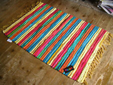 Striped Hand-Woven Indian Regional Rugs