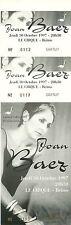 RARE / TICKET CONCERT - JOAN BAEZ LIVE TO FRANCE OCTOBRE 1997 / COMME NEUF