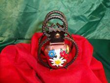 Tischglocke Metall Schmiedeeisen Glocke Kupfer Enzian Edelweiß Tischklingel