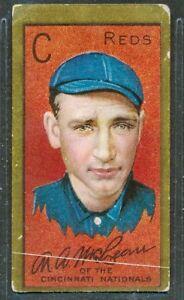 """1911 T205: JOHN B. McLEAN """"Cincinnati Reds"""" Honest Long Cut"""
