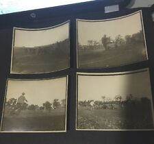 """Brown University Football 1910 Team issued (4) Action Pictures Of A Game 4"""" x 5"""""""