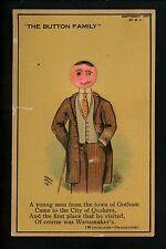 Novelty Add On Button People postcard Artist Signed Jervis 1909 Wanamaker