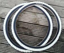 """2 x Kenda K829 MTB Tyres 24"""" x 1.95"""" Black/White Stripe"""