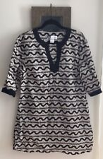 Rebecca Moses Style Journey Tunic Top Size Large Cotton With Silk Trim