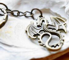 Schlüsselanhänger Drache Bronze groß 9 cm