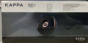 """INFINITY KAPPA 62IX 6.5"""" 2-Way Car Speakers 300 Watts 100 Watts Rms 2.7 Ohms NEW"""