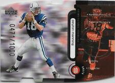 1998 Upper Deck PEYTON MANNING CONSTANT THREAT DIE-CUT SILVER #CT2 COLTS /1000