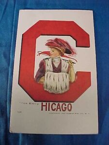 1910 CHICAGO UNIVERSITY College Series ILLUSTRATED  POSTCARD F Earl CHRISTY
