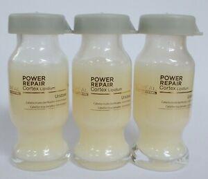 10 ml x3 New ! L'oreal Power Repair Cortex Lipidium Hair Treatment Serum + Track