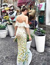 ZARA NEW COLD shoulder floral printed long dress size S