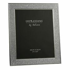 "Impressions by Juliana Silver Plated Photo Frame with Glitter Band 8""x10"" Photo"