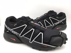 Salomon Speedcross 4 GTX Mens Size 11 Gore-Tex Trail Running Shoes Black 383181