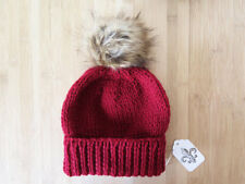 Cool Hand Made Pom Pom acrylic wool Red Beanie Hat - Choose your Color $40-$75