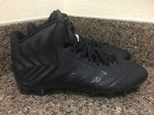 adidas Crazyquick Mid TD Football Cleats Black D74291 MSRP $90 Men Sz 9.5, 10
