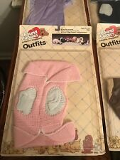 NIB VINTAGE 1986 TONKA POUND PUPPIES PINK SWEATER OUTFIT NEW FITS RUMPLESKINS