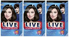 Schwarzkopf LIVE Intense 089 Bittersweet Chocolate Perm Hair Colour Dye x 3 Pack